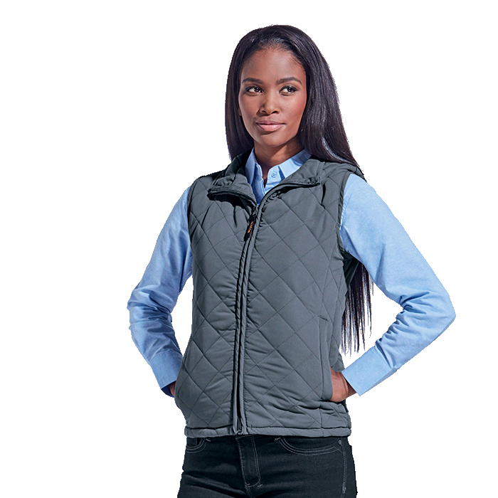grey business body warmer for ladies
