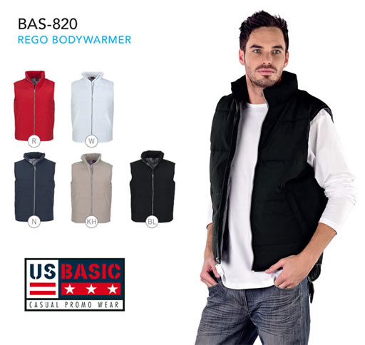 us basic bodywarmer mens collection