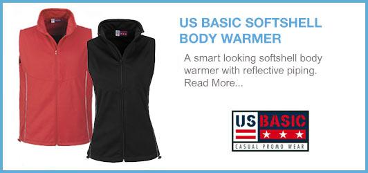 us basic softshell bodywarmer